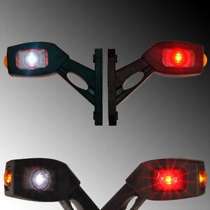 2x LED Begrenzungsleuchte Seitenleuchte Umrissleuchte 12V 24V LKW Anhänger Gummi