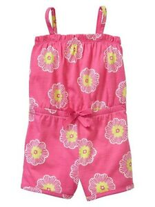 NWT-Baby-GAP-Girls-Melon-Poppy-Flower-Pajama-Shortie-Romper-Sleep-UPick-Size-NEW