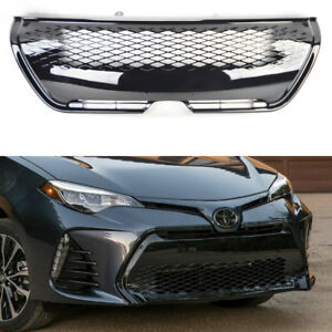 Details About Front Gloss Black Honeycomb Mesh Per Grill For Toyota Corolla 2017 2018