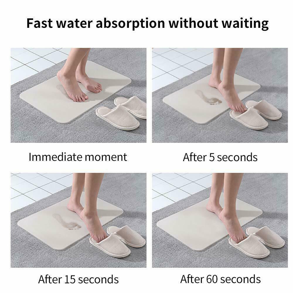 1 x Diatomaceous Fast Drying Non Slip Absorbent Antibacterial Bath Mat CLEARANCE