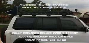 Nissan-Patrol-GQ-GU-Fully-Enclosed-Deluxe-Steel-Roof-Rack-Cage-2200x1250x160mm