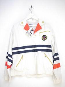 Details zu Fila Trainingsanzug Zweiteiler Jacke Vintage Retro Weiß Damen  Größe 40