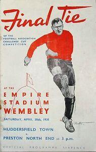 Football Programme Cover Reprints (C) Huddersfield v Preston F.A.Cup Final 1938