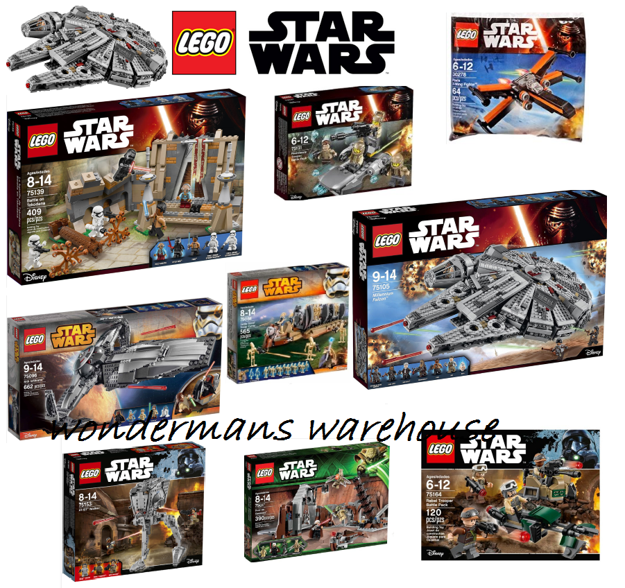 LEGO Star Wars Set da collezione-Millenium Falcon/AT-ST Walker & More Nuovo di Zecca