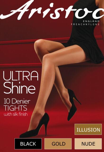 Aristoc collant Ultra Shine 10 denier sans démarcation S, M, L, XL - 4 couleurs