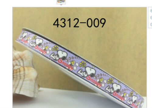 Snoopy Ribbon 9mm wide 1m long
