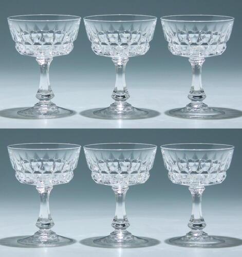 6 Cristal d`Arques Sektschalen POMPADOUR      # 92694z
