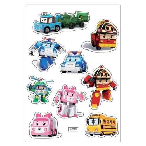 A96 Planche A4 de stickers voitures enfants autocollant adhésif scrapbooking