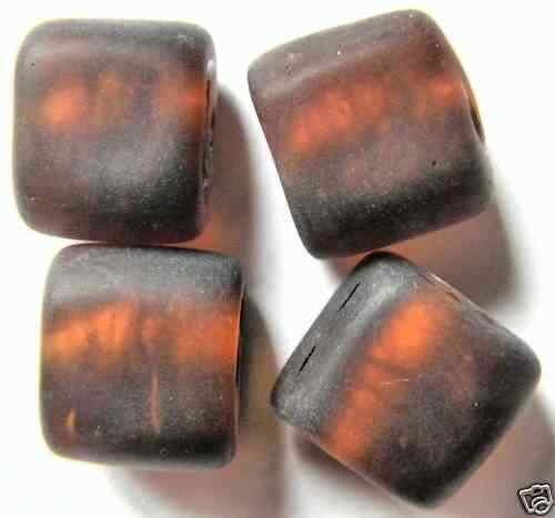 Q9-06 13 SILBERFOLIE GLASPERLEN 10 MM BRAUN MATT