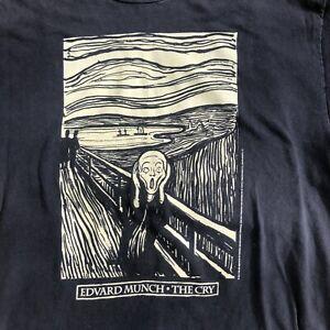 Vintage 1994 Edvard Munch The Scream T-Shirt Art Institute