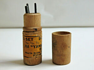 Vintage-North-Bros-Div-of-Stanley-Tools-Yankee-Drill-Points-Original-Wood-Case