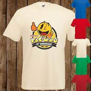 Pacman-anniversaire-35-An-retro-ATARI-ART-modele-garcon-fille-t-shirt