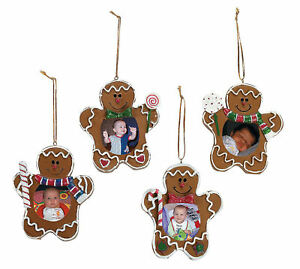 Gingerbread Christmas Tree.Details About 4 Gingerbread Man Picture Frame Christmas Tree Ornaments