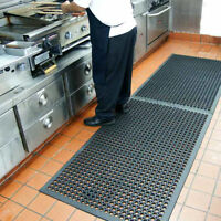 Cactus Mat 36' X 60' Black Rubber Restaurant Kitchen Anti Fatigue Slip Floor