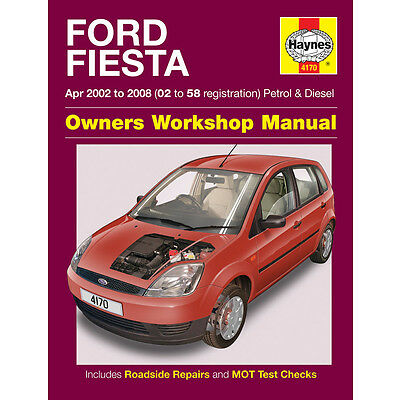 Haynes Ford Fiesta 1.25 1.3 1.4 1.6 Petrol 1.4 Diesel 2002-2008 Manual 4170 NEW