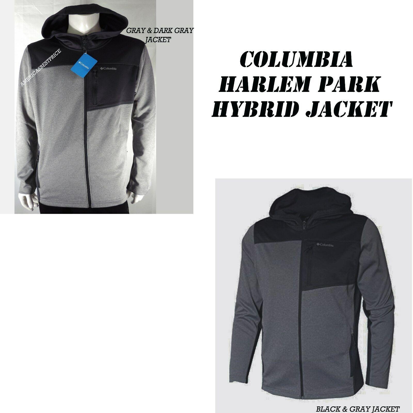 NWT Columbia Men/'s Harlem Park Hybrid Full Zip Hoodie