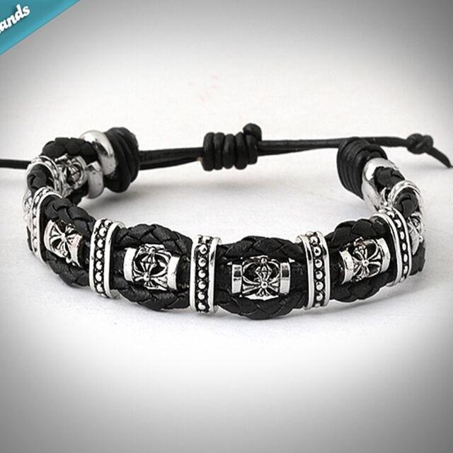 Guntwo Korean Mens Fashion Bracelets Biker Hip Hop Leather Bracelet B2142 Us