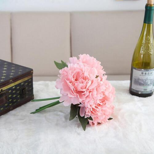 Artificiel Faux Artisanat Hortensia Bouquet Nuptial Fleurs Fête Maison Mariage