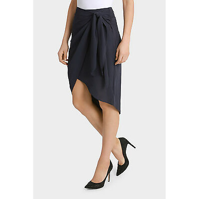 NEW Tokito Collection Draped Tie Skirt Navy