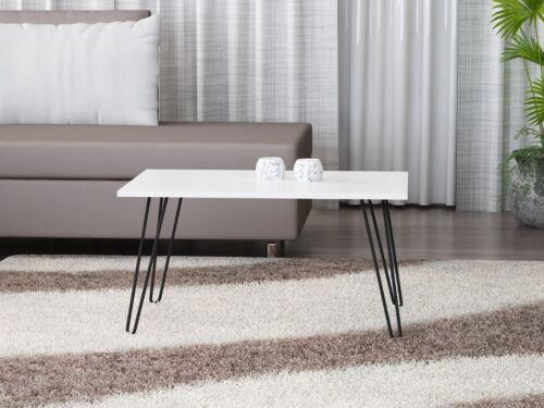 Table basse blanc salon table bois Table d'appoint table canapé métal