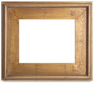 classic style plein air antique gold leaf crackle wood frame size