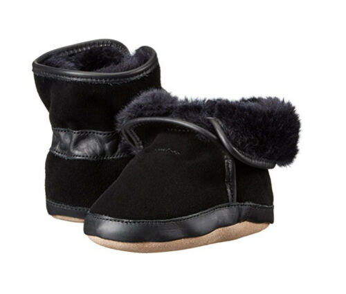 6-12,12-18M NWB ROBeeZ 100/% Soft Leather-Suede Crib Shoe COZY ANKLE BOOTIE 0-6