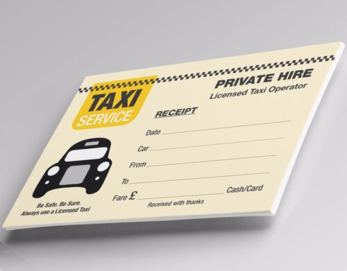 Minicab Receipts Pack of 100 Blank Taxi Tickets assorted designs FREE POST
