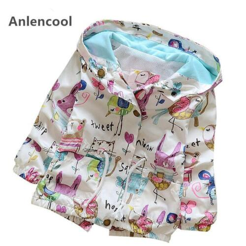 New Baby Girls Coats Autumn Baby Jackets Hooded Graffiti Printing Baby Outerwear