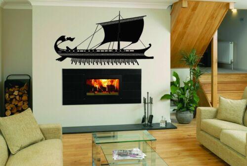 Wall Art Vinyl Sticker Room Decal Mural Decor Greek Boat Ship Paddle Sea bo1945