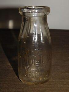 VINTAGE 1932 THE PAULUS DAIRY NEW BRUNSWICK NJ  HALF  PINT MILK BOTTLE