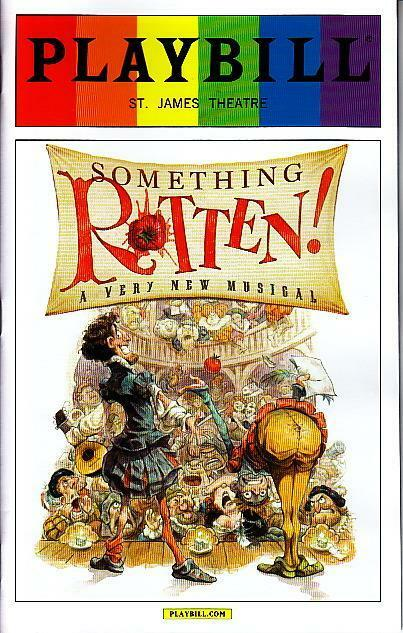 SOMETHING ROTTEN GAY PRIDE PLAYBILL NEW YORK CITY NYC BROADWAY JUNE 2015