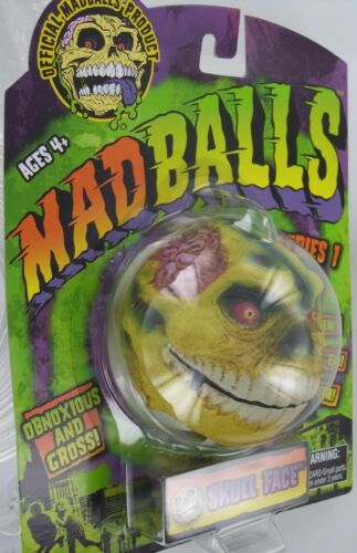 MadBalls SKULL FACE Mad Ball MadBall Zombie Skeleton Head GROSS S1 Retired NEW