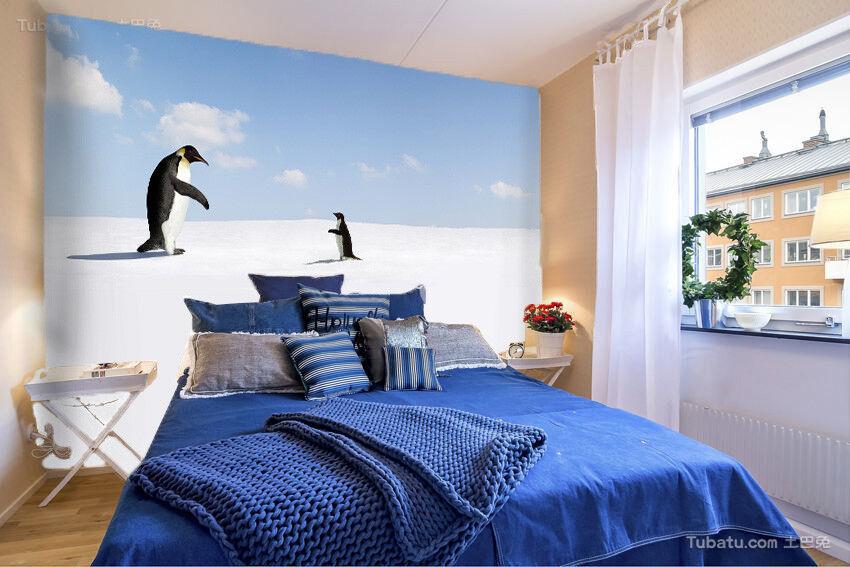 Papel Pintado Mural De Vellón Animación De Pingüinos 2 Paisaje Fondo De Pansize