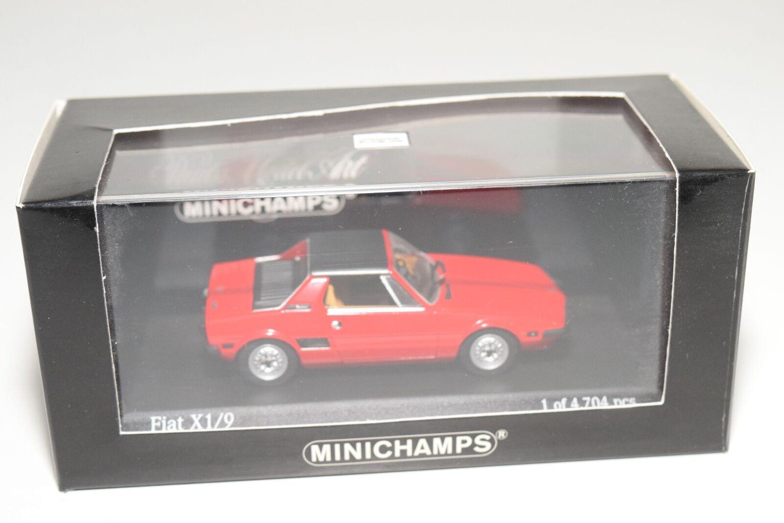 . MINICHAMPS FIAT X 1 9 X1 9 1972 - 78 RED MINT BOXED