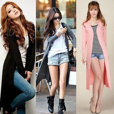 Womens Casual Long Sleeve Cardigan Knit Knitwear Sweater Coat Long Wraps OutweOE