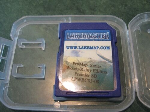 Lakemaster Woods Rainy Lake of the Woods Premier Edition SD Card Chip Lowrance