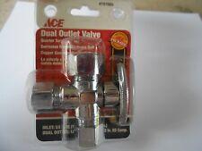 Item 5 Ace 8 Od 1 2 Chrome Plated Dual Outlet Quarter Turn Shut Off Valve H