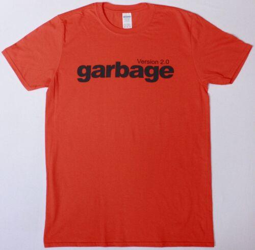 GARBAGE VERSION 2.0 LOGO ORANGE T SHIRT ALTERNATIVE ROCK THE CARDIGANS REPUBLICA