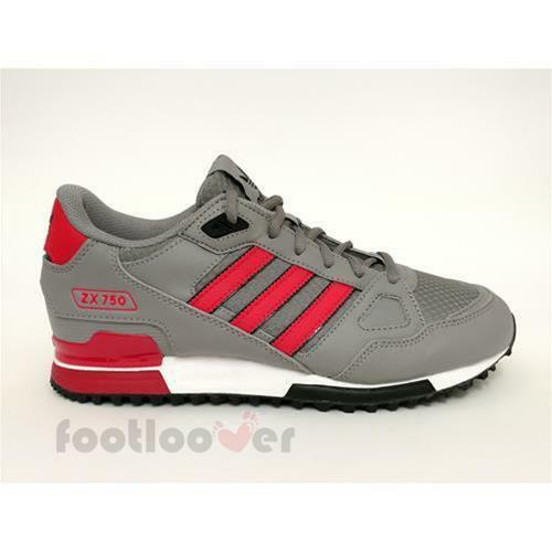 big sale dfc1c cef9e Schuhe Adidas Originals ZX 750 s76192 Running Herren Sneakers Mesh Grey Red  Blac