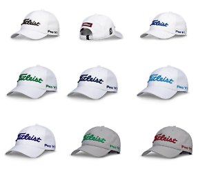 e6ad2b01965 New Titleist Men s Tour Performance Golf Hat Curved Bill Strapback ...