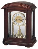 Bulova Nordale Analog Quartz Solid Hardwood Case Pendulum Mantel Clock B1848 on sale