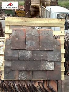 Reclaimed Second Hand Hard Bake Clay Roofing Tiles Ebay
