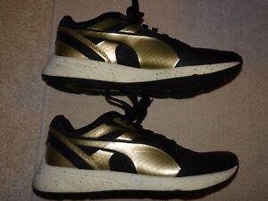 Puma Ignite Metallic Schuhe Sportschuhe schwarz gold Gr. 37