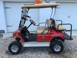 2006 Yamaha Golf Cart Custom Painted Fire Truck Working Lights and Sirens