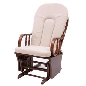 Poltrona anziani dondolo legno sedia sdraio con cuscino for Poltrona design ebay