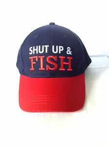 929ad0d18fd 2X Funny Fishing Cap Hat Shut Up and Fish 100% cotton One Size Fits ...