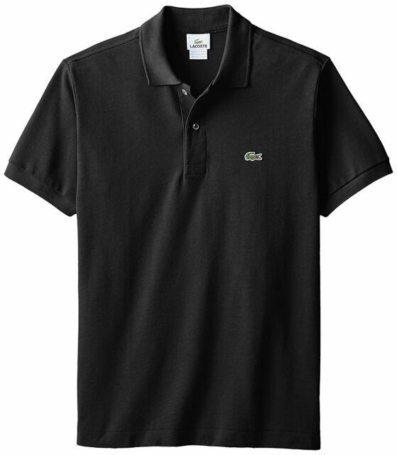 Lacoste Black Short Sleeve Cotton Pique Polo Shirt 5191l Euro 9 3xl XXXL