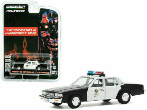 1987 chevrolet caprice Police-terminator 2 Judgement RR GreenLight 1:64 nuevo