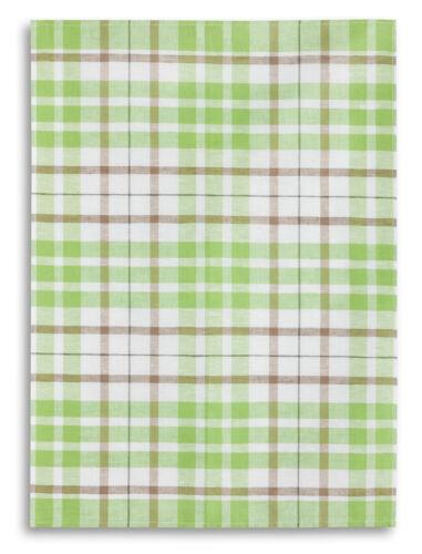 carreau vert gläsertuch halbleinen Bâton qui torchon 50x70 CM
