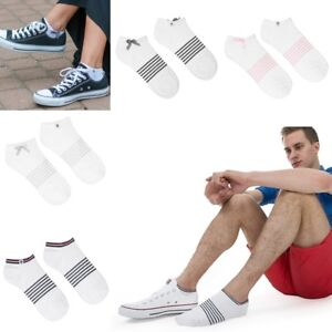 Bamboo ankle Socks with pink, gray